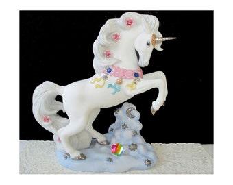 Unicorn Figurine Sculpture * LOVE'S MAGICIAN *  Princeton Gallery 1995