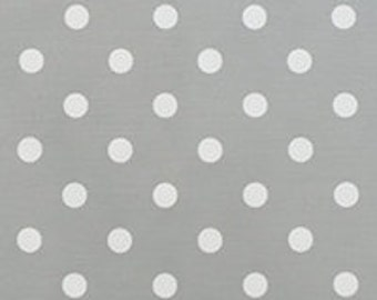 Polka Dot Storm/White Twill Fabric by the Yard by Premier Prints