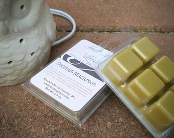 Coconut Macaroon Scent - Soy Wax Melts - Soy Wax Tarts - Scented Wax Melts - Candle Melts - Scented Wax Cubes