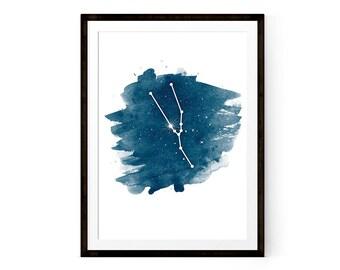 Printable poster Zodiac Taurus Art, Taurus Constellation
