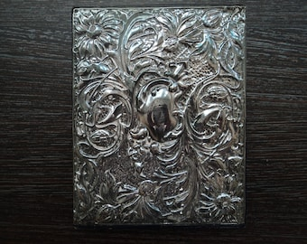 Sterling silver  and leather Address book