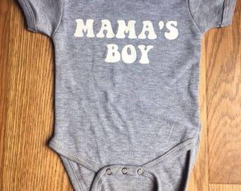 Mamas Boy Onesie, Baby Boy, Gift Ideas