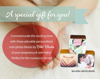 GIFT CERTIFICATE for Custom Handmade Baby or Pregnancy Photo Wooden Blocks perfect baby shower gift
