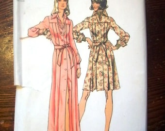 Simplicity 5909 Printed Pattern ~ Size 18 Bust 40 ~ 1973 Misses' Dress In Two Lengths
