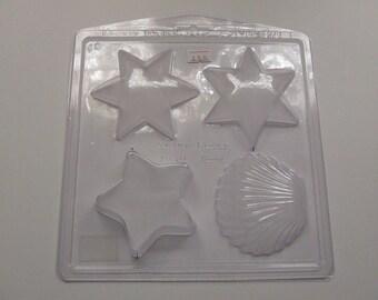 Shell & Star Bath Bomb / Soap Mould