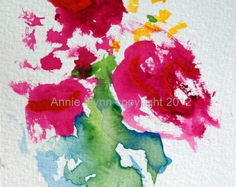 "Archival Print of Original Watercolor ""Rosie"""