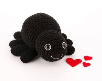 CROCHET PATTERN: Sammy Spider - amigurumi, stuffed toy, spider
