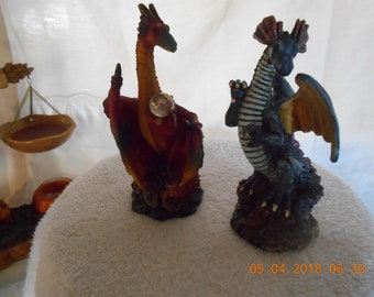 Dragon Figurines - K's Collection - Set of Two