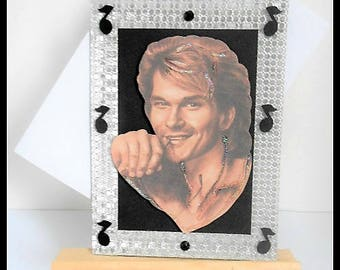 Patrick Swayze card black any occasion