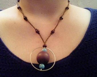 Glass Bead, Wood, and Seed Bead Jewelry Set