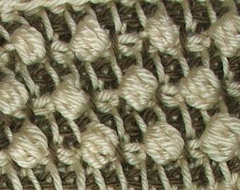 Tunisian Crochet PDF pattern Ebook Tutorial Instant Digital download