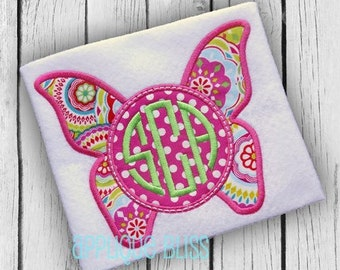 Monogram Butterfly Applique Design - Butterfly - Spring - Chrysalis - Insect - Butterfly Applique Design - Butterfly Embroidery