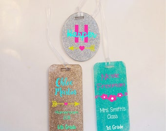 Customized Bookbag tags
