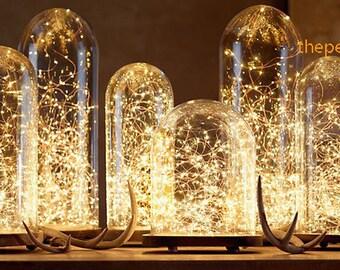 20 LED 7 ft lumières cuivre imperméable à l'eau à piles jardin mariage Centre de table blanc chaud