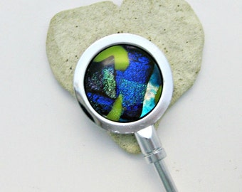 Fused Dichroic Glass Purse Holder - Hostess Gift