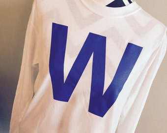 FLY THE W - Cubs Win Long Sleeve Shirt