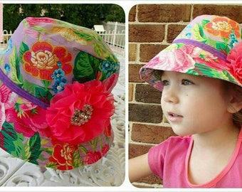 Spring Garden GIRLS Bucket Sun Hat