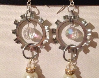 Gear Dangles with Beads