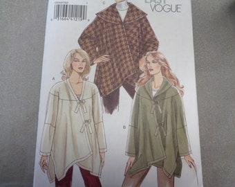 Vogue Sewing Pattern 8344- Couture Coat pattern- Sizes 8-22 uncut