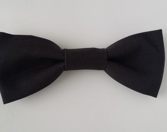 Black Dog Bow Tie - Small size dog bow