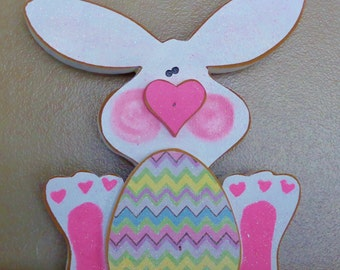 Spring Decor, Easter Decor, Bunny Decor, Bunny with egg