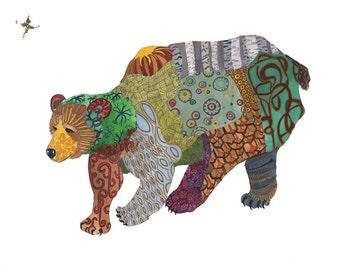 Bear // home decor// Art Print// mountain// bear art // nursery 13 x19, 11 x 14, 8 x 10, 5 x 7