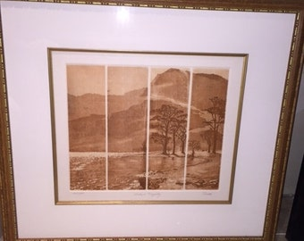 """Antique Framed Picture by """"Tulth"""" Silent Majesty 209/350"""