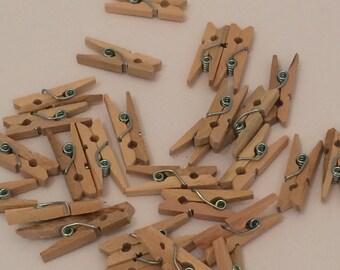 mini pegs -wooden - x 20