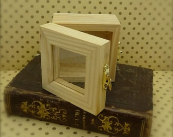 tiny wooden shadow box