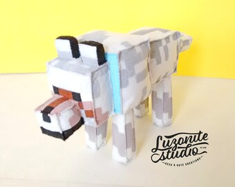 Teddy inspired by the domesticated Wolf of Minecraft made of felt choose color (unofficial) made-to-order-plush colored wolf