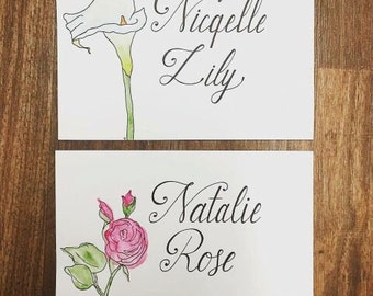 Custom Hand Lettering With Watercolor Picture