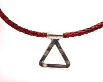 Charm for leather or cord of 3.5 mms in diameter