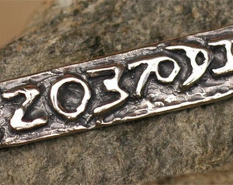 Harmony Tag Pendant Talisman in Sterling Silver CH-233