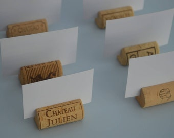 Wine Cork Place Card Holders used for Weddings – Parties, and any event, all natural wedding décor