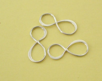 3 Pieces, Infinity Links, Sterling Silver .925, 8mmx19mm, SL122