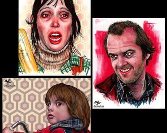 "Prints 8x10"" - The Torrance Family - The Shining Jack Nicholson Stanley Kubrick Stephen King Dark Art Horror Serial Killer Pop 80s Halloween"