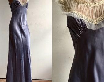1940s Silky Rayon Slip Dress / Nighty