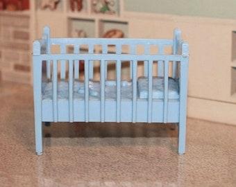 Marx dollhouse crib, nursery furniture Contemporary style for your tin litho dollhouse