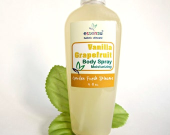 Vanilla Grapefruit Moisturizing Perfume Natural Body Spray | Safe Non-Toxic Fragrance | Hair Perfume | No Phthalates | Vegan - 4 oz