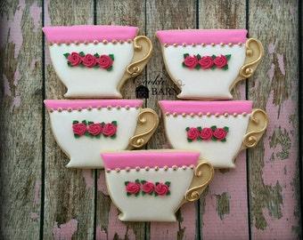 Tea Cup - Tea Time -  Afternoon Tea Decorated Sugar Cookies
