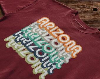 Retro Style Vintage Look Arizona USA State T-shirt