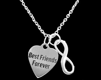 Best Friend Gift, Best Friends Forever Gift BFF Infinity Necklace