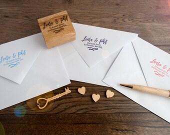 Personalised RSVP Stamp - Wedding Invitation Stamp, Correspondance RSVP stamp, Pen Pal Address Stamp, Custom Rubber Stamp