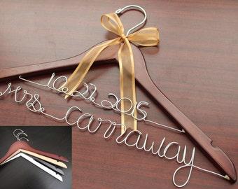 Wedding Hanger, Bridal Hanger, Bride Hanger, Bridal Hanger Personalized, Personalize Hanger, Personalized Wedding Hanger. SHIP from USA