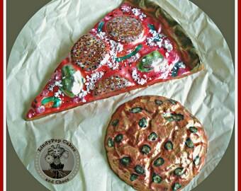 Chocolate Pizza gift/Pizza Lover/Cookie/Fast Food/Pretend/Kids Chocolate/Novelty Edible Gift/Men/Boys birthday/Girls/Teenager/Teen Birthday