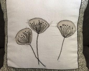Ginko Leaves, Designer Pillow, Home Decor, Handmade In Vermont