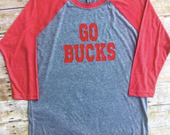 Go Bucks Baseball Tee