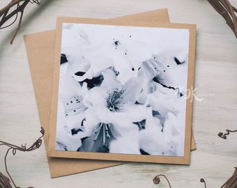 Rhododendron Photo Card - Less colors, more feelings...