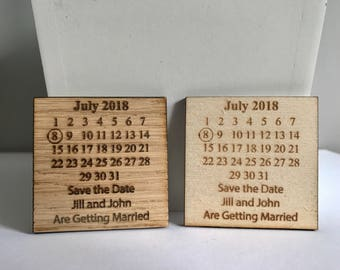 Save the Date Magnet, Rustic Wedding, Wedding Magnet, Save the Date Personalised Magnet, Wedding Announcement, Wooden Save the Date, Wedding