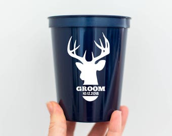 Stag Party Stadium Cup - Personalized Cup for Stag Party - Groomsmen Gift Ideas-Stag Favours-Wedding Party Cups - Groom Stag Theme - TGFS036